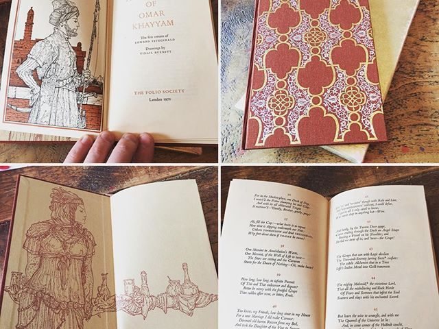 Yesterday's Oxfam find- quite a nice little Folio edition of The Rubaiyat of Omar Khayam. Shiny.