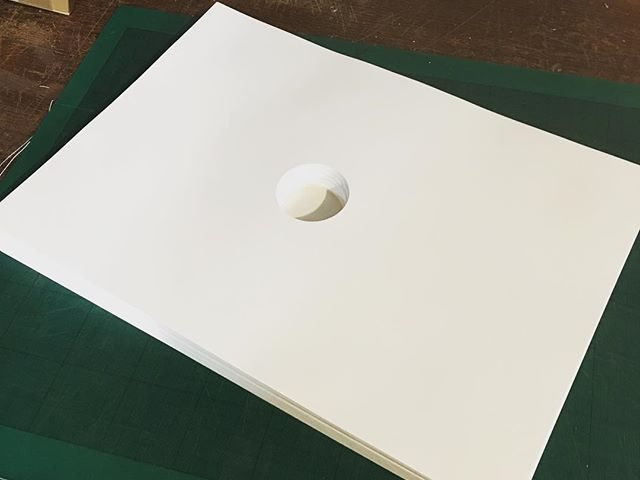 This little stack of holey paper will be accompanying me to the Whittington Press open day this weekend. I'll be manning the proofing press, with a few prints, type and spacing for sale.