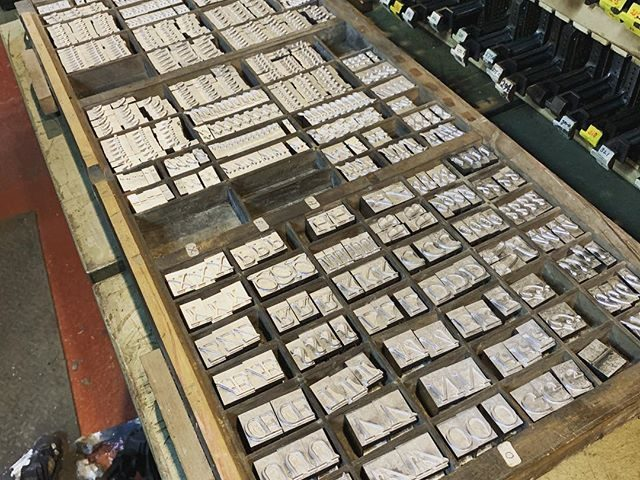 A nice case of 72pt Garamond italic, and cast before the end of the day. Unusually good going…