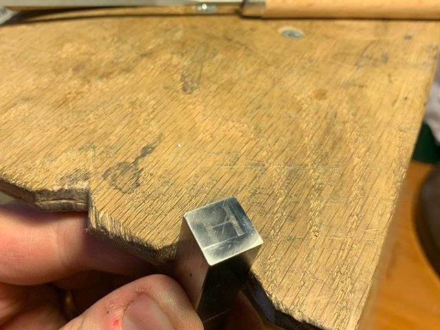 Fancy seeing me at some stage of cutting this punch? Come along to #shipleywayzgoose2019 and, if I've successfully set everything else up in time, I'll probably be doing a bit of filing and graving throughout the day. And buy something, obviously.