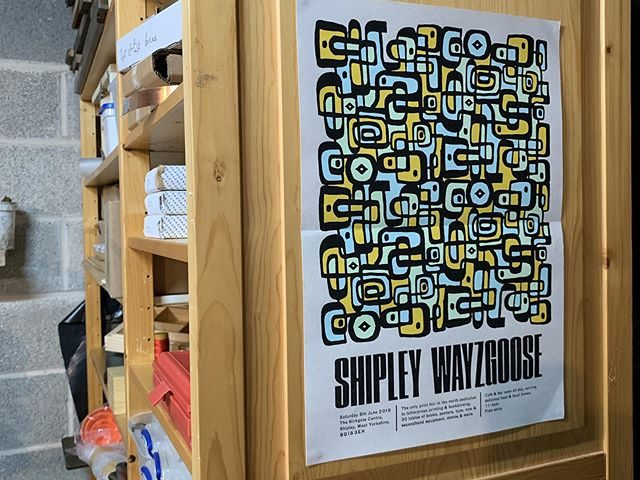 Back in the press again, and getting some bits and bobs ready for the mighty Shipley Wayzgoose on Saturday. I should have some spacing, leads, display type, prints and some used books for sale, and should be doing a bit of live punchcutting and casting of plastic type. Come and say hi.